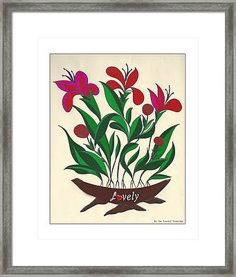 Lovely White Boarder Framed Print by Joe Greenidge