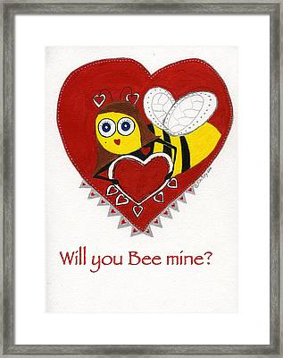 Lover Bee Lovee Framed Print by Christy Woodland