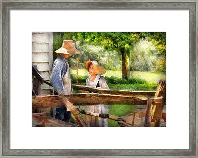 Lover - The Courtship Framed Print