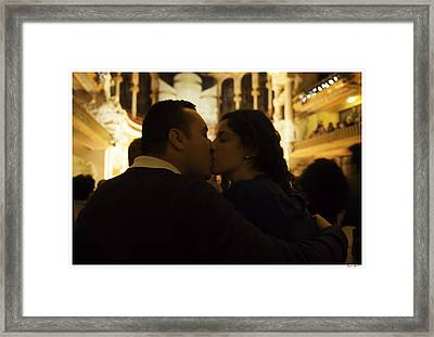 Lovers At Palau De La Musica Catalana - Barcelona Framed Print by Madeline Ellis