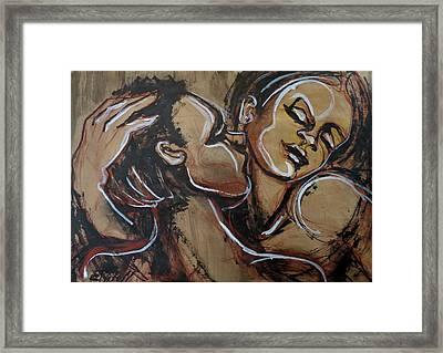 Lovers - First Love Framed Print by Carmen Tyrrell