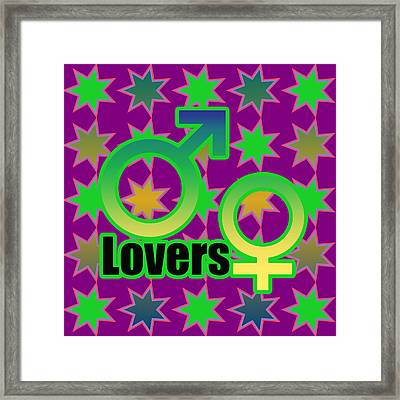 Lovers In Pop Art Framed Print by Tommytechno Sweden