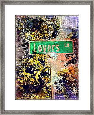 Lovers Lane Framed Print by Beth Saffer