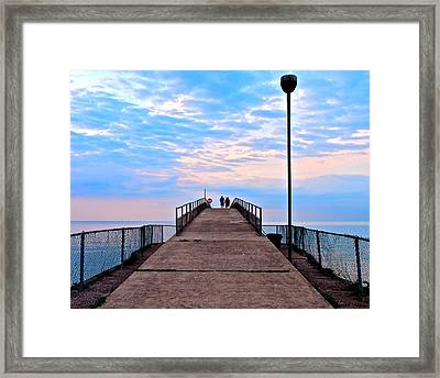 Lovers Lane Framed Print by Frozen in Time Fine Art Photography