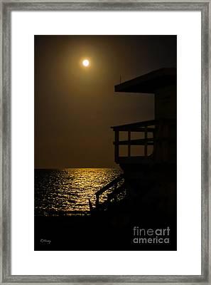 Lovers Moon Framed Print