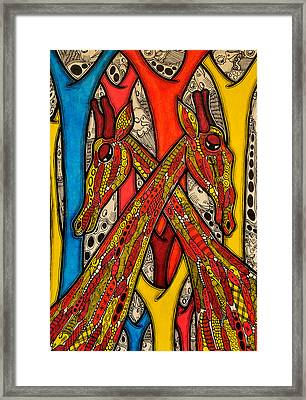 Lovers Framed Print by Muktair Oladoja