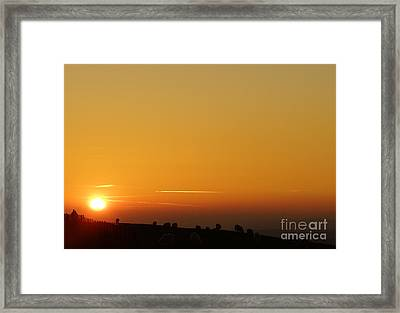 Lovers N Sunsets Framed Print by Andrew Middleton