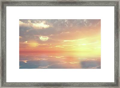 Lovers Ocean Framed Print by Georgiana Romanovna
