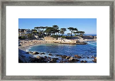 Lovers Point Beach Framed Print by Susan Wiedmann