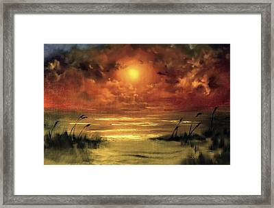 Lovers Sunset Framed Print