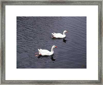 Lovers Framed Print by Thomas Roudebush
