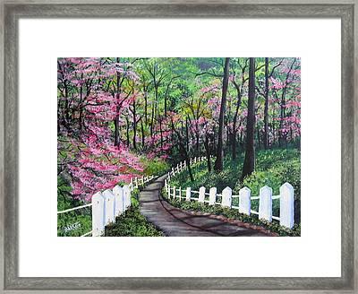 Lovers' Trail Framed Print