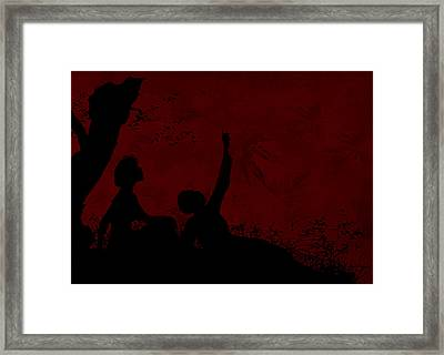 Framed Print featuring the photograph Lovers Under The Stars by Sandra Foster