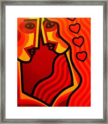 Lovers Vi Framed Print by John  Nolan