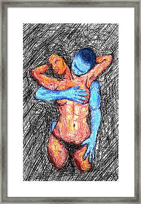 Lovers Wired Together  Framed Print