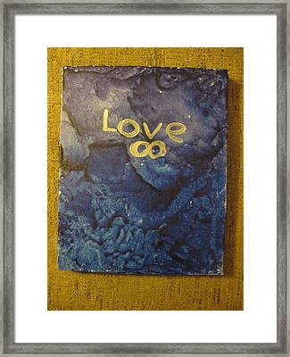Loves Blue Mood Framed Print by Lawrence Christopher