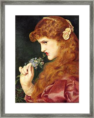 Loves Shadow, 1867 Framed Print by Anthony Frederick Augustus Sandys