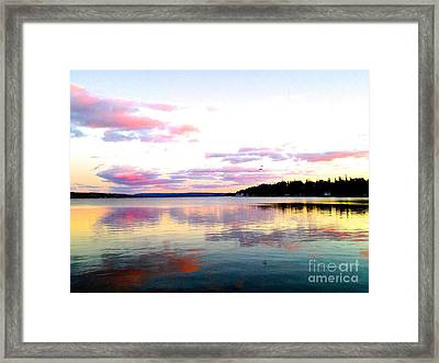 Love's Sky Framed Print by Margie Amberge