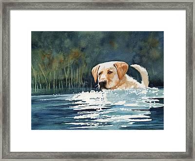 Loves The Water Framed Print