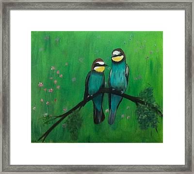 Lovey-dovey Framed Print