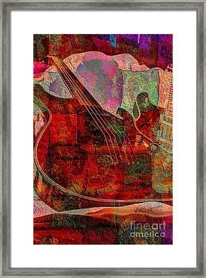 Lovin The Sound Digital Guitar Art By Steven Langston Framed Print by Steven Lebron Langston