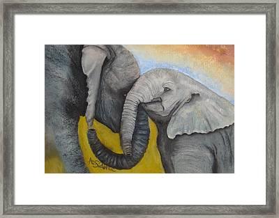 Loving Framed Print
