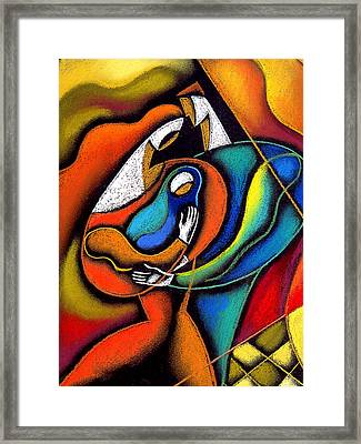 Loving Family Framed Print by Leon Zernitsky