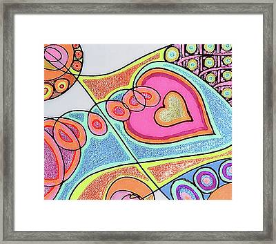 Loving Heart Connection Framed Print by Sheree Kennedy