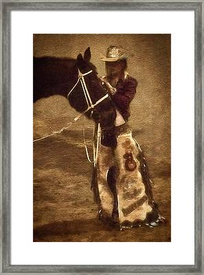 Loving In The National Western Stock Show Paddock Framed Print