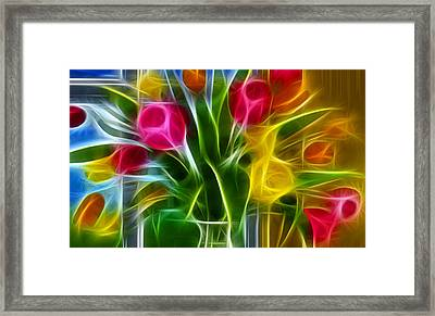 Framed Print featuring the digital art Loving by Karen Showell