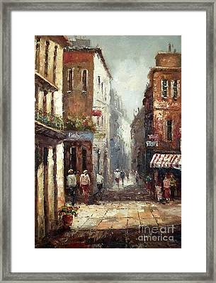 Loving Narrow Streets Framed Print