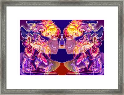 Loving Reflection Framed Print by Omaste Witkowski