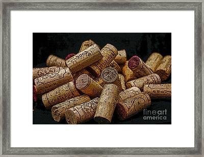 Loving Wine Framed Print by Patricia Hofmeester