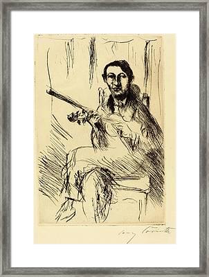 Lovis Corinth, Andreas Weissgaerber-i Bildnis Andreas Framed Print