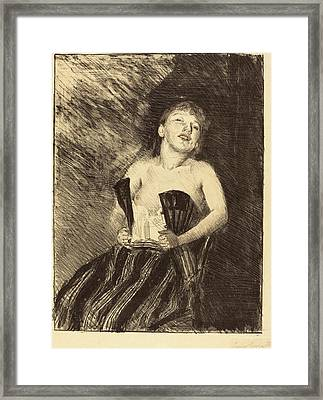 Lovis Corinth German, 1858 - 1925, Girl In A Corset Framed Print