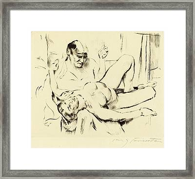Lovis Corinth, Prophecy Weissagung, German Framed Print by Quint Lox