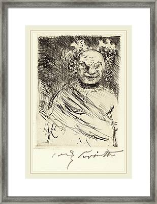 Lovis Corinth, The Banquet Of Trimalchio Pl Framed Print by Litz Collection