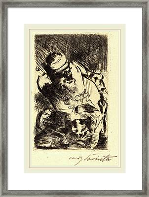 Lovis Corinth, The Cat Of The Prophet Die Katze Des Framed Print by Litz Collection