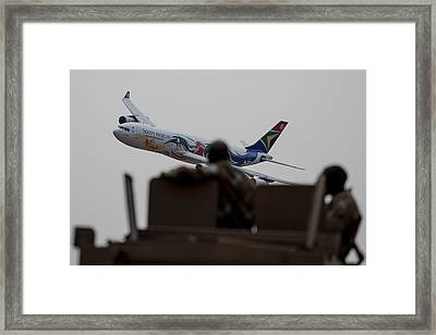 Low Airbus Framed Print