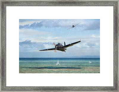 Low And Hot Framed Print