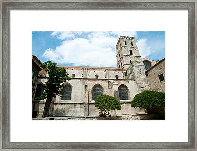 Low Angle View Of A Bell Tower, Church Framed Print