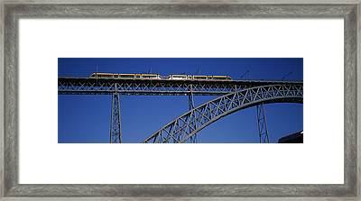 Low Angle View Of A Bridge, Dom Luis I Framed Print