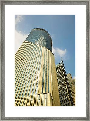 Low Angle View Of A Building, Bank Framed Print
