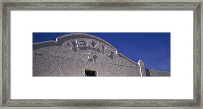 Low Angle View Of A Building, Marfa Framed Print