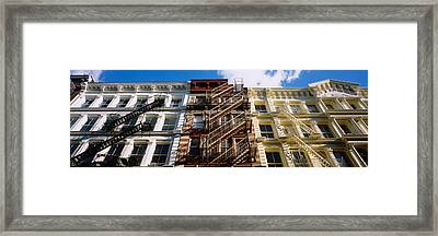 Low Angle View Of A Building, Soho Framed Print by Panoramic Images
