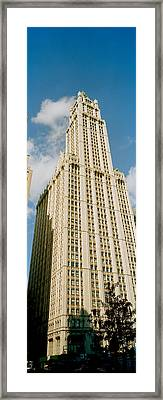 Low Angle View Of A Building, Woolworth Framed Print
