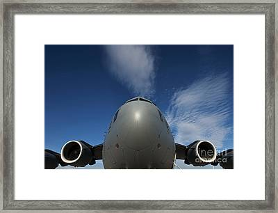 Low Angle View Of A C-17 Globemaster Framed Print by Stocktrek Images