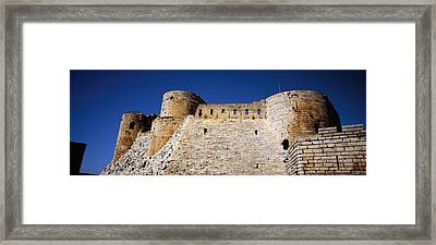 Low Angle View Of A Castle, Crac Des Framed Print