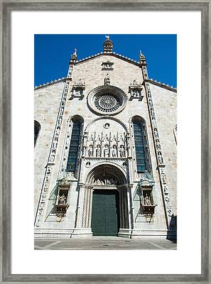 Low Angle View Of A Cathedral, Como Framed Print by Panoramic Images