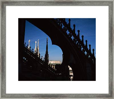 Low Angle View Of A Cathedral, Duomo Di Framed Print by Panoramic Images